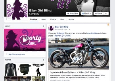Biker Girl Bling Facebook Cover