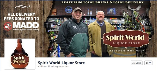 Spirit World Liquor Store Facebook Cover