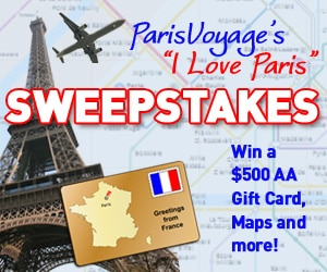 """I LOVE PARIS"" Sweepstakes for client Paris Voyage"