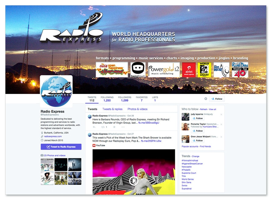 Radio Express Twitter Cover